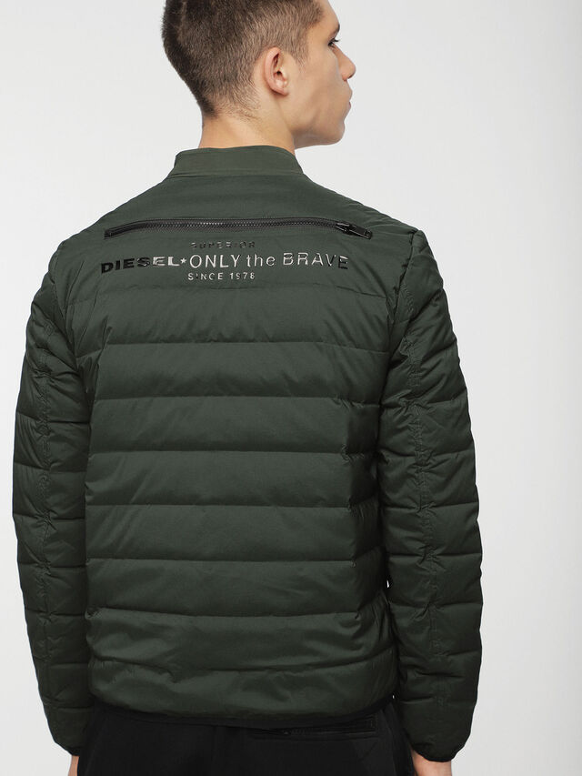 Diesel - W-HANKS, Dark Green - Winter Jackets - Image 2