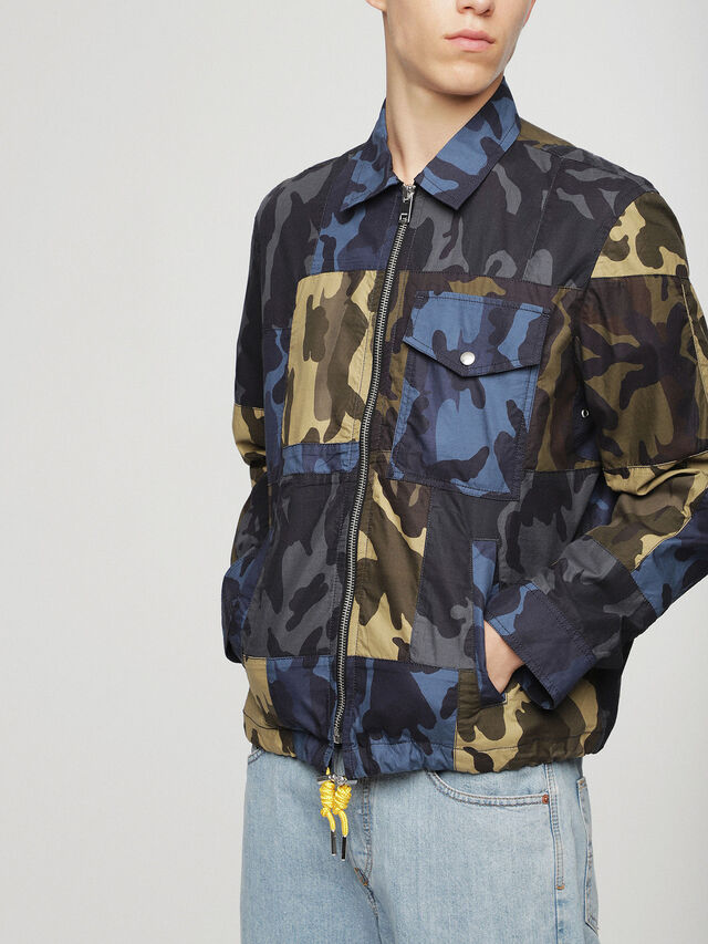 Diesel - J-SYNTHY, Green Camouflage - Jackets - Image 1