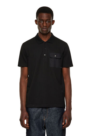 Polo shirt with flap pocket