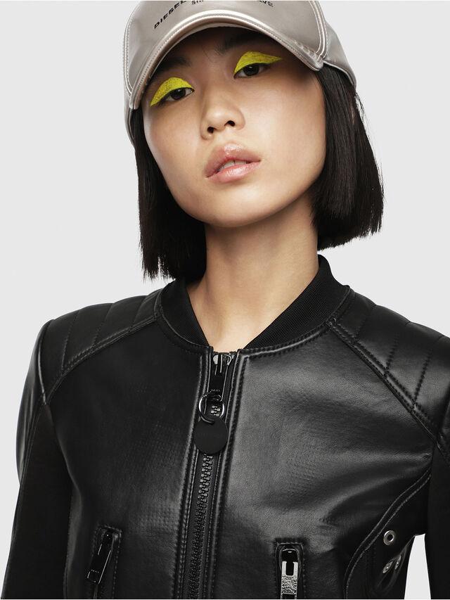Diesel - L-MARI, Black Leather - Leather jackets - Image 3