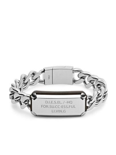 Diesel - BRACELET DX1017, Silver - Bracelets - Image 1