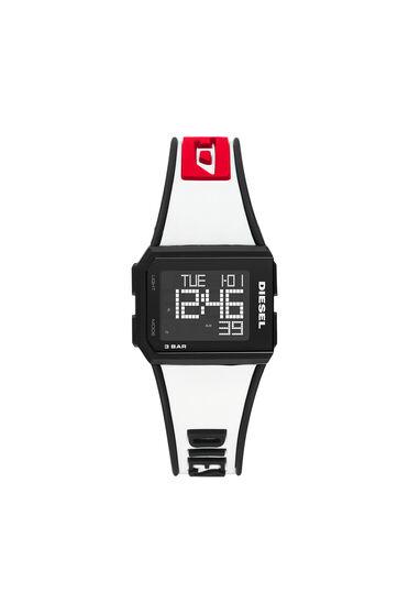 Chopped Digital White Silicone Watch