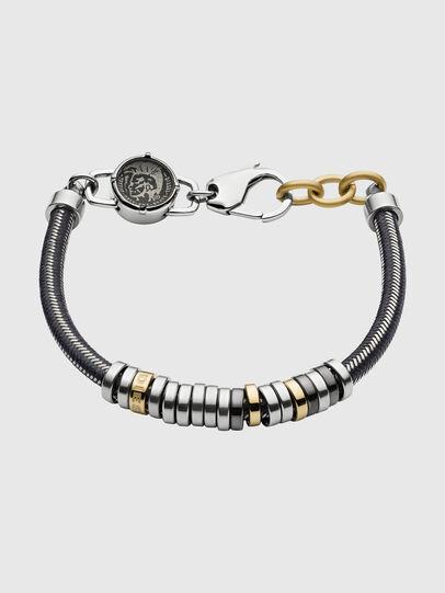 Diesel - DX1185, Silver/Black - Bracelets - Image 1