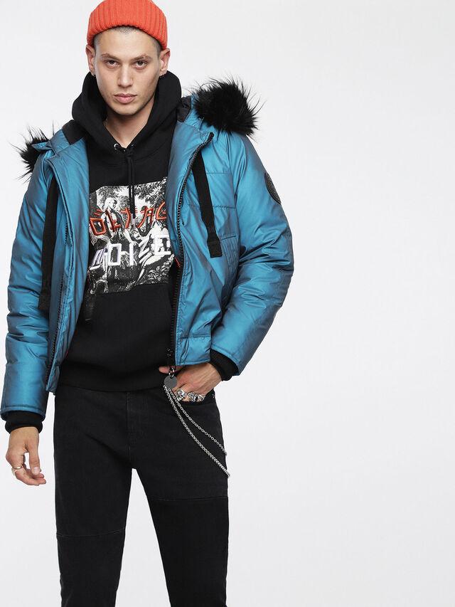 Diesel - W-CODY, Azure - Winter Jackets - Image 1