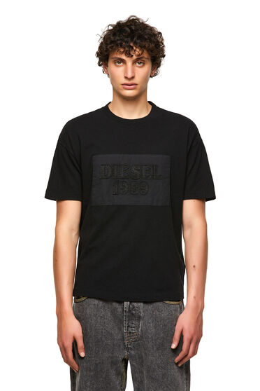 DieselXDiesel T-shirt with raw-cut patch