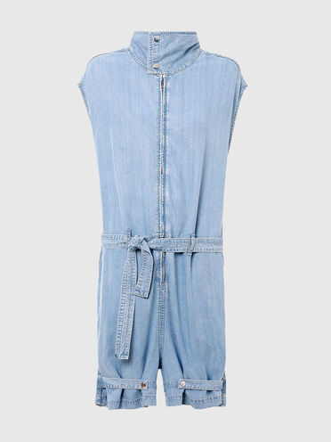 Belted jumpsuit in Tencel