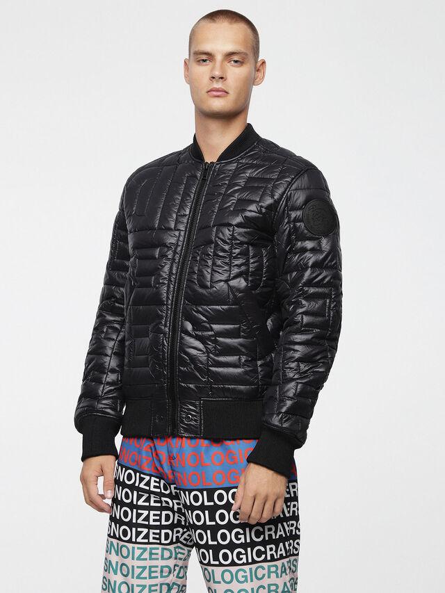 Diesel - W-ALL, Bright Black - Winter Jackets - Image 1