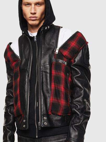 Diesel - L-NORMAN, Black - Leather jackets - Image 5