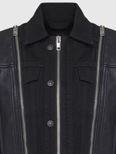 Diesel - L-LAZAY, Black - Leather jackets - Image 4