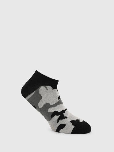 Low-cut socks with camo motif