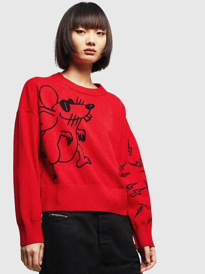 Diesel - CL-M-TESS, Red - Knitwear - Image 1