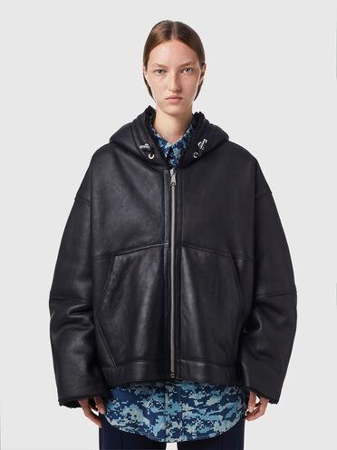 Reversible jacket in sheepskin