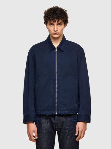 Coach jacket in cotton gabardine