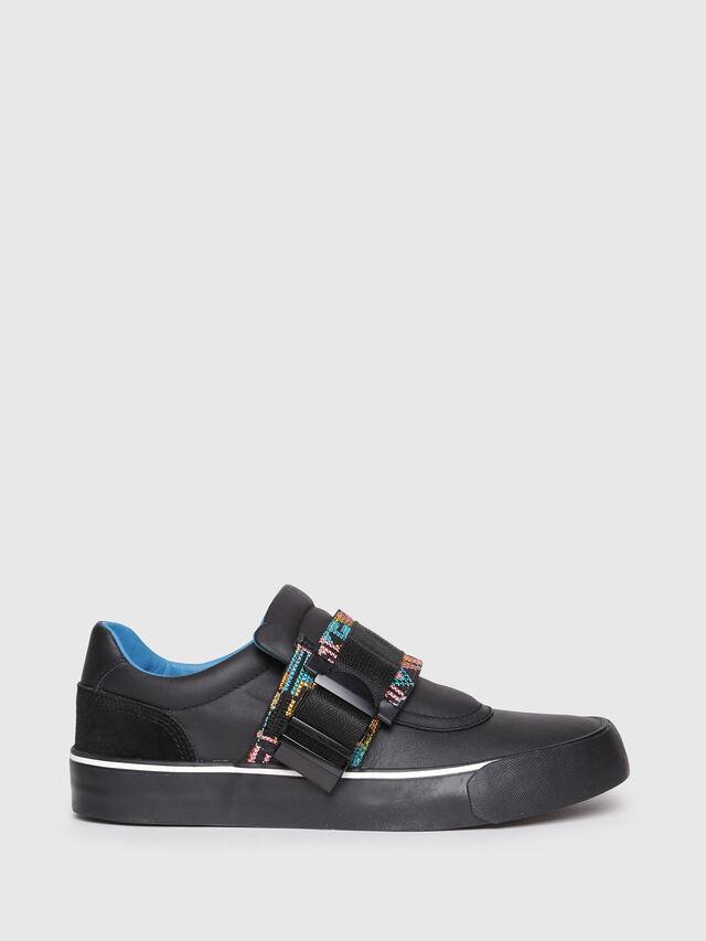 Diesel - S-FLIP LOW BUCKLE W, Black - Sneakers - Image 1