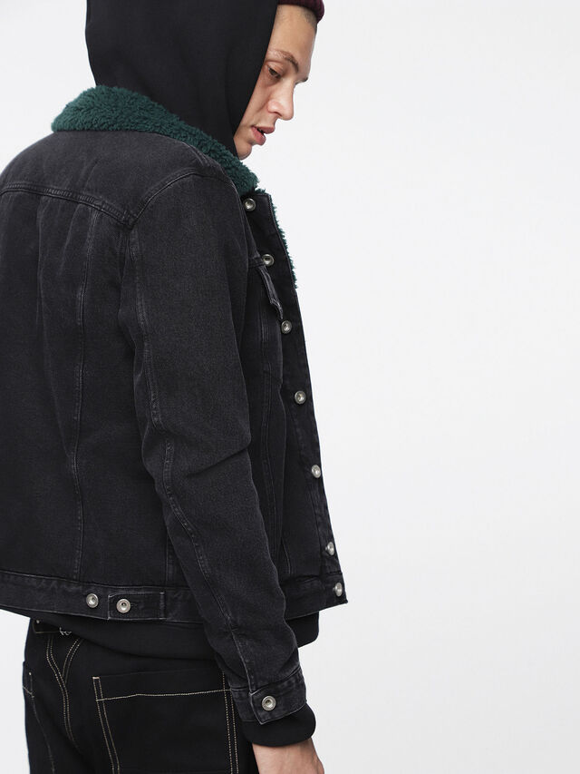 Diesel - D-GIOC-FUR, Black Jeans - Winter Jackets - Image 3