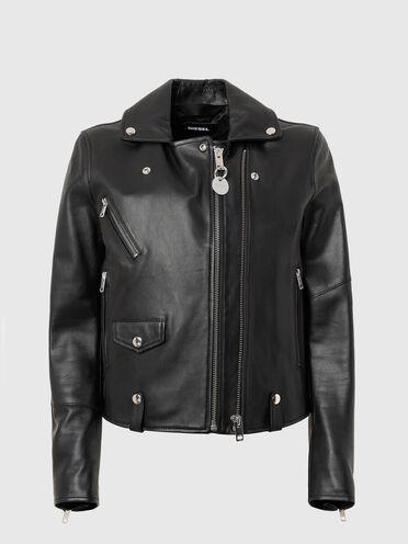 Biker jacket in nappa leather