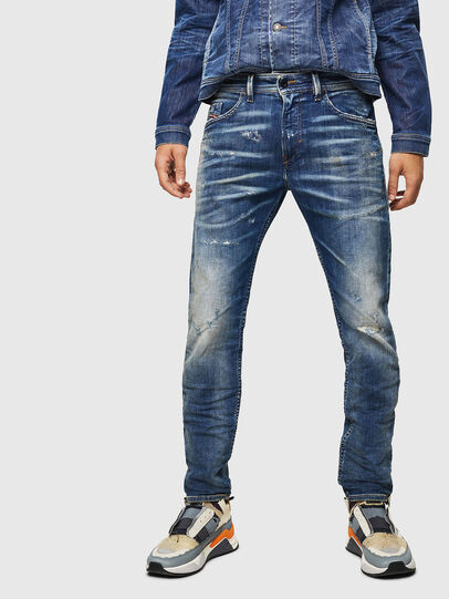 Diesel - Thommer JoggJeans 0870Q, Medium blue - Jeans - Image 1
