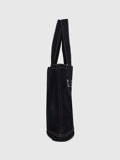 Diesel - F-THISBAG SHOPPER NS, Dark Blue - Shopping and Shoulder Bags - Image 3