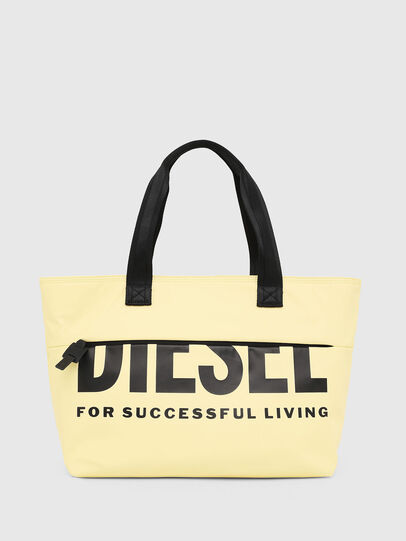 Diesel - F-BOLD SHOPPER II, Light Yellow - Shopping and Shoulder Bags - Image 1