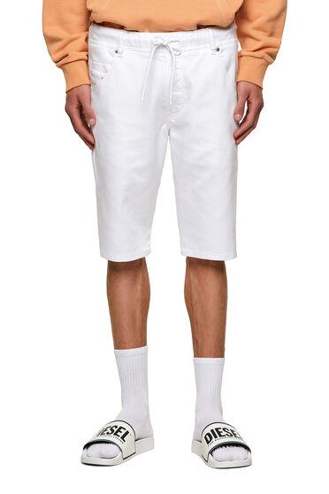 Slim shorts in solid-colour JoggJeans®
