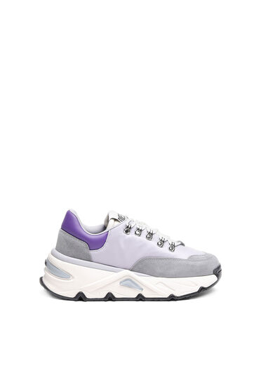 Chunky sneakers in nylon and suede