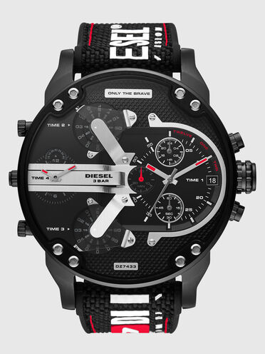 Mr. Daddy 2.0 chronograph black nylon and silicone watch