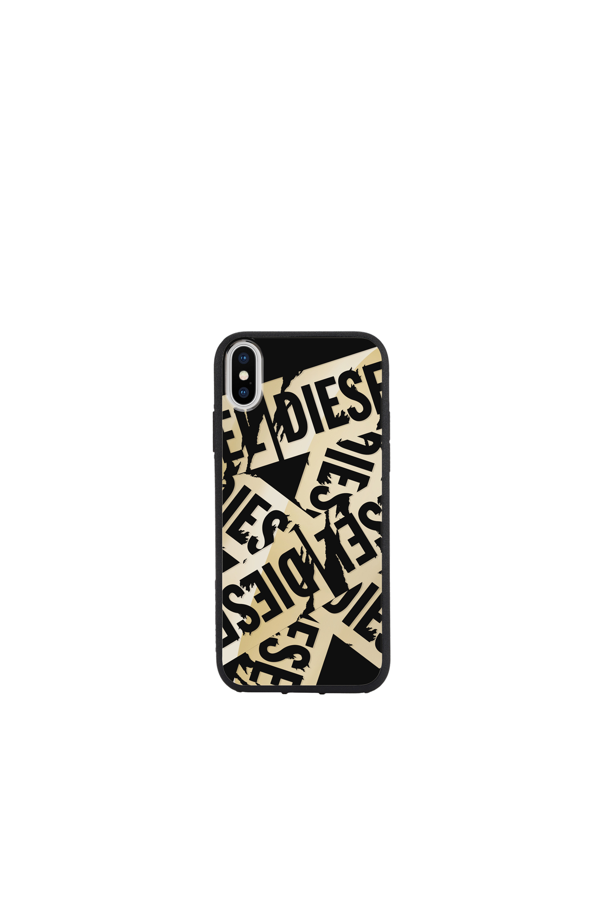 Diesel - MULTI TAPE GOLD/BLACK IPHONE X CASE,  - Cases - Image 4