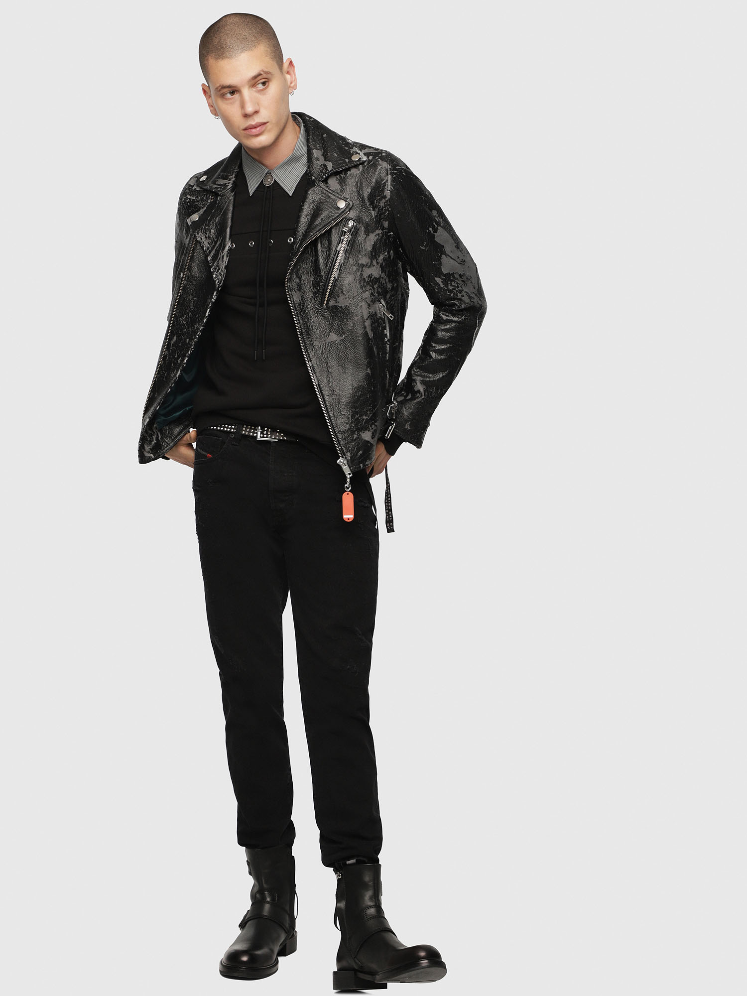 Diesel - L-KRAMPIS-A,  - Leather jackets - Image 6